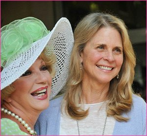With Lindsay Wagner