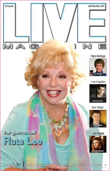 Another Magazine cover for Ruta. Live will be hosting a cocktail party in her honor at Lulu's in Palm Springs on May 20th
