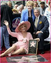 Debbie Reynolds and Alex Trebek